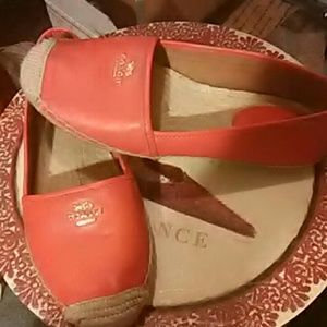 Coach red shoes